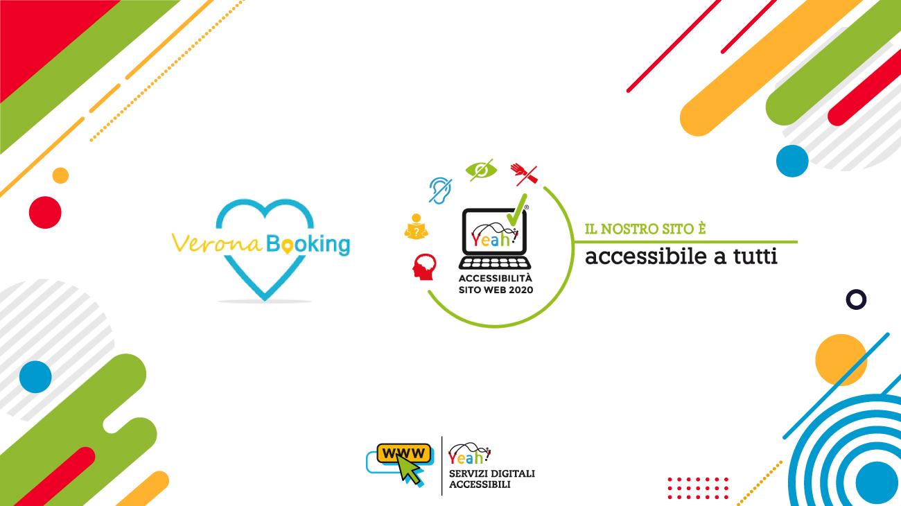 """VeronaBooking.com ottiene il marchio di qualità """"Yeah"""" per l'accessibilità dei siti web agli utenti con disabilità!"""