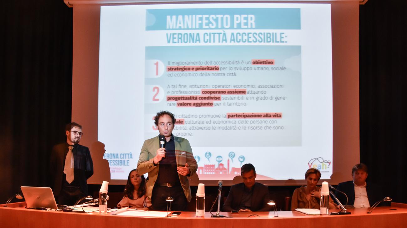 Presentato il manifesto Verona Città Accessibile
