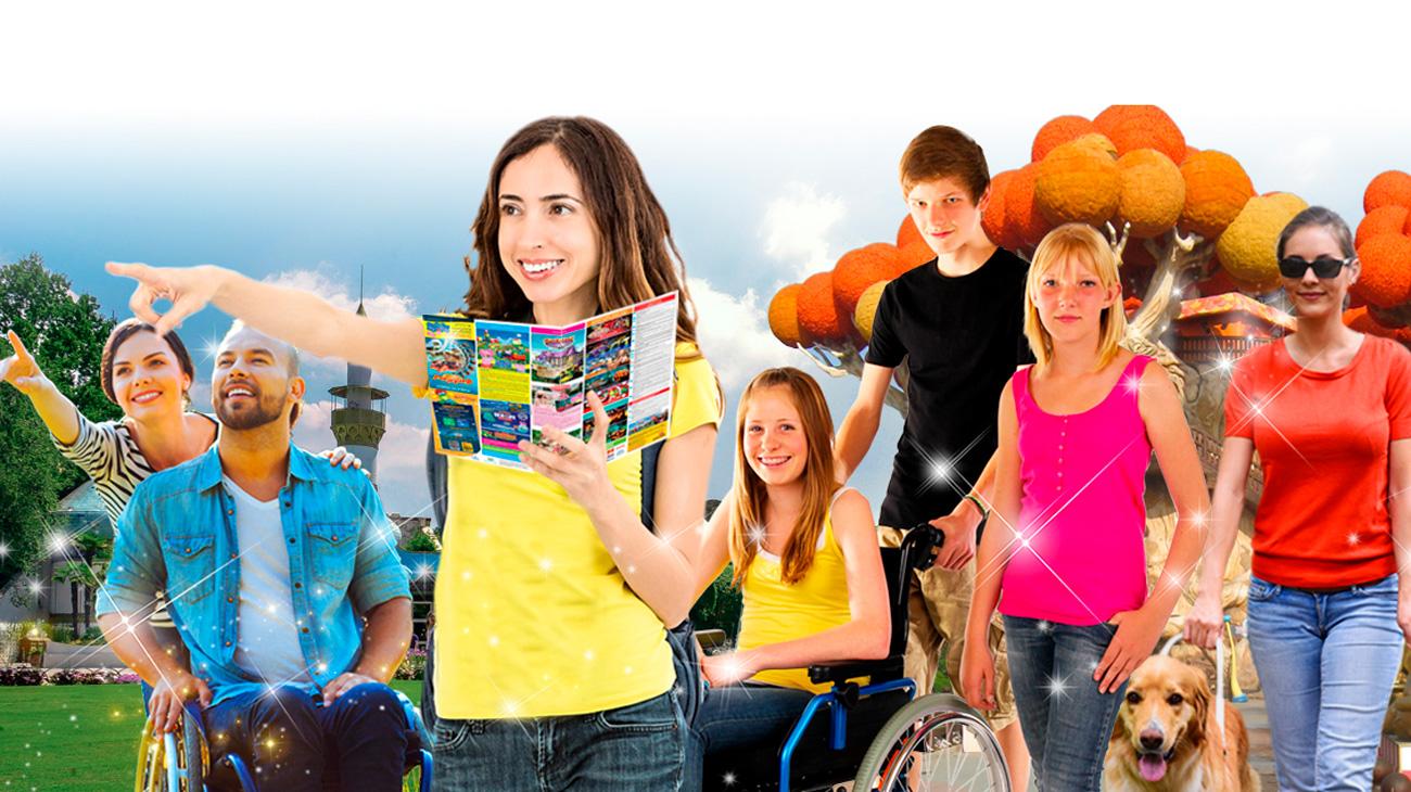 Gardaland e Progetto Yeah:Easy Rider un accompagnatore per gli ospiti con disabilità