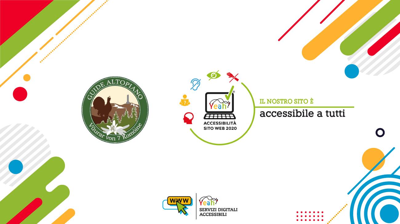 """Guide Altopiano ottiene il marchio di qualità """"Yeah"""" per l'accessibilità dei siti web agli utenti con disabilità!"""